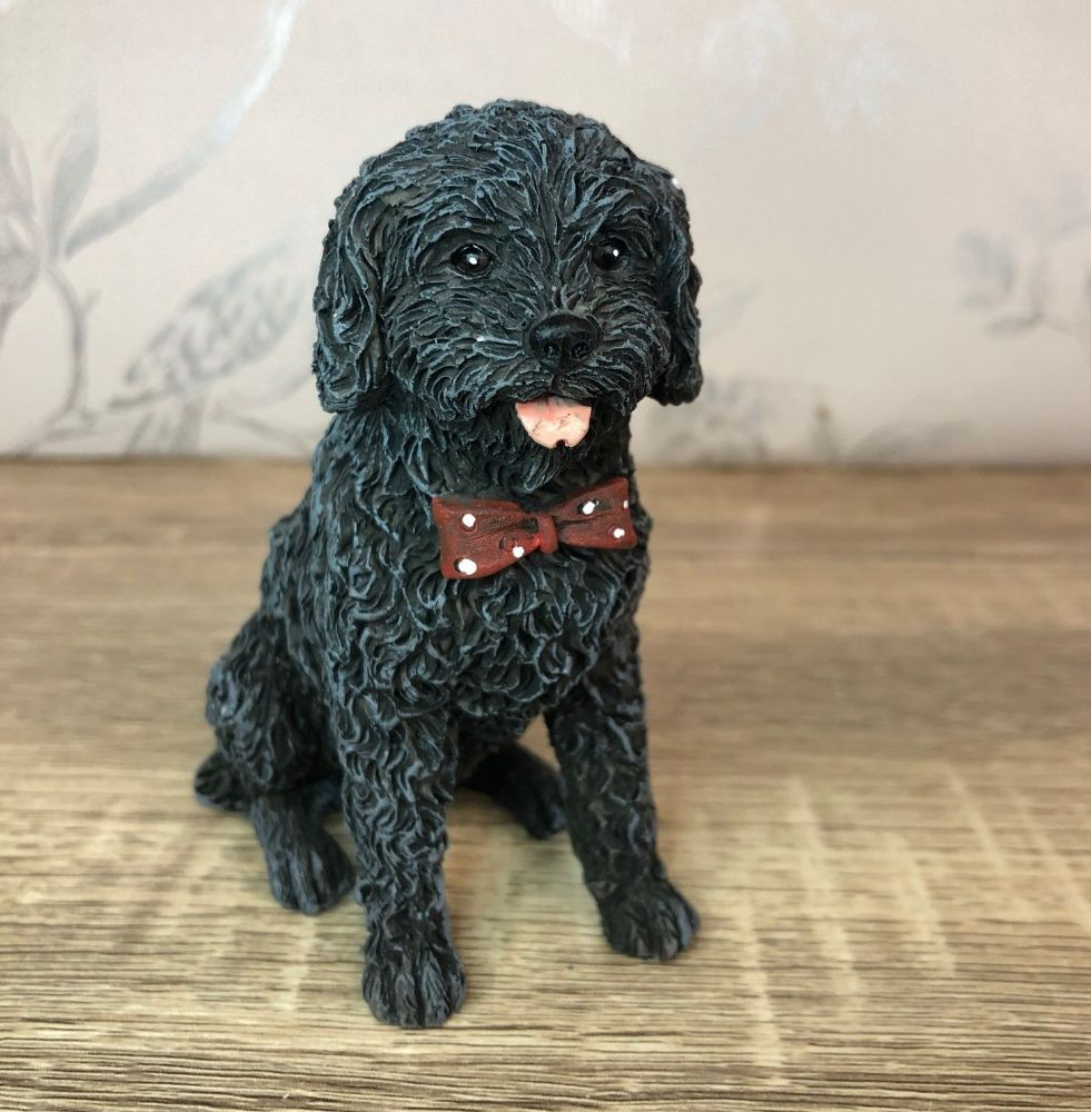 Black Labradoodle Dog Ornament